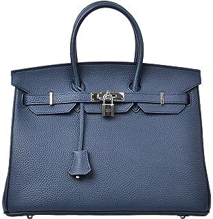 Cherish Kiss Women s Padlock Handbag Genuine Leather Top Handle Bag with  Silver Hardware a322330fb9e