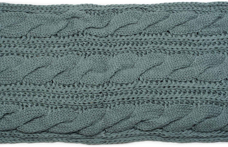 sciarpa in maglia con motivo intrecciato con cuffia a pon pon e guanti donna 01018208 cuffia e guanti styleBREAKER set coordinato di sciarpa