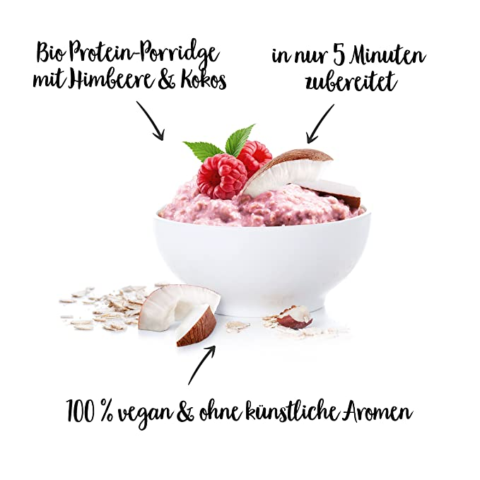 nu3 Protein Bowl orgánico sabor chocolate | 300g de gachas de avena sin gluten | Desayuno nutritivo 100% vegano | Sin azúcar o saborizantes artificiales ...