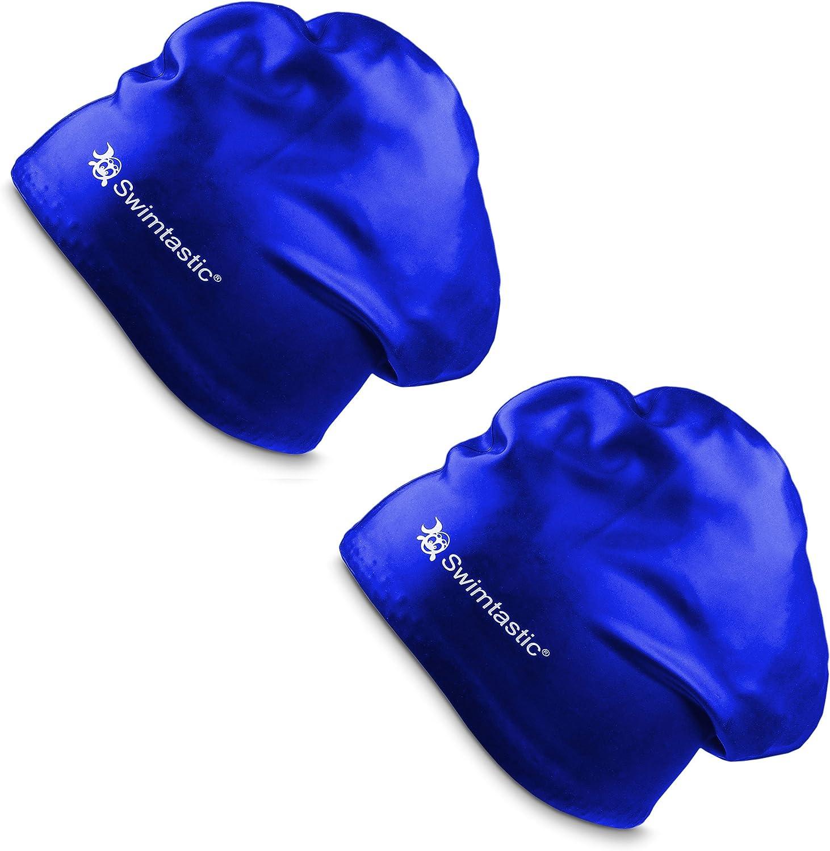 sp/écialement con/çu pour nageurs avec cheveux longs Bonnet de bain pour cheveux longs Swimtastic /épais ou fris/és
