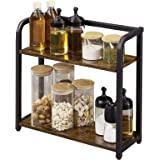 EKNITEY Spice Rack Organizer, 2-Tier Organizer Countertop Shelf Organizer Coffee Organizer Station for Kitchen Cabinet Pantry