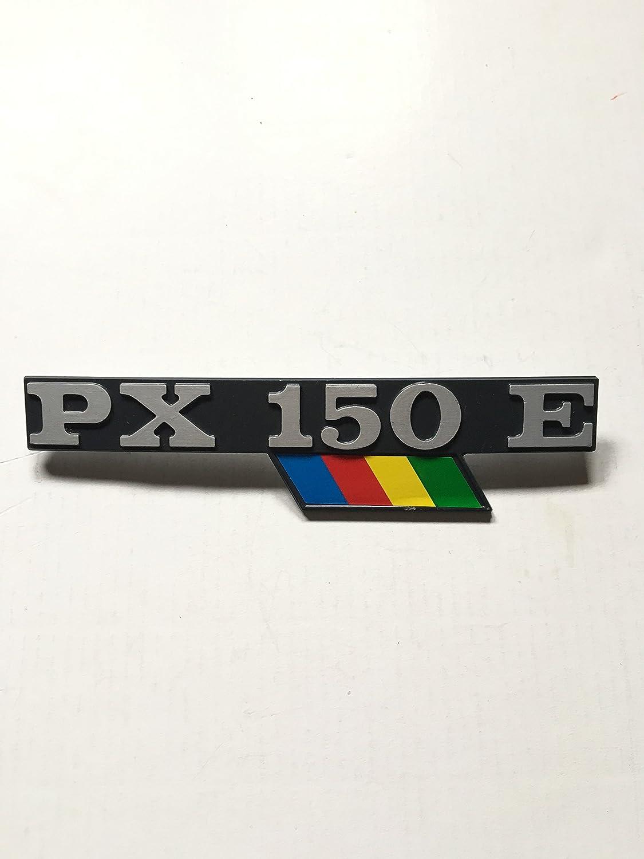 PX150E TARGHETTA SCRITTA LATERALE IN ALLUMINIO PER PIAGGIO VESPA PX 150 E ARCOBALENO SEBAVENDITE