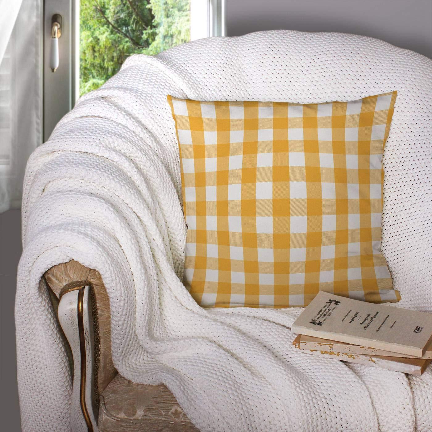 Amazon.com: Sertiony - Funda de almohada cuadrada de 18.0 x ...