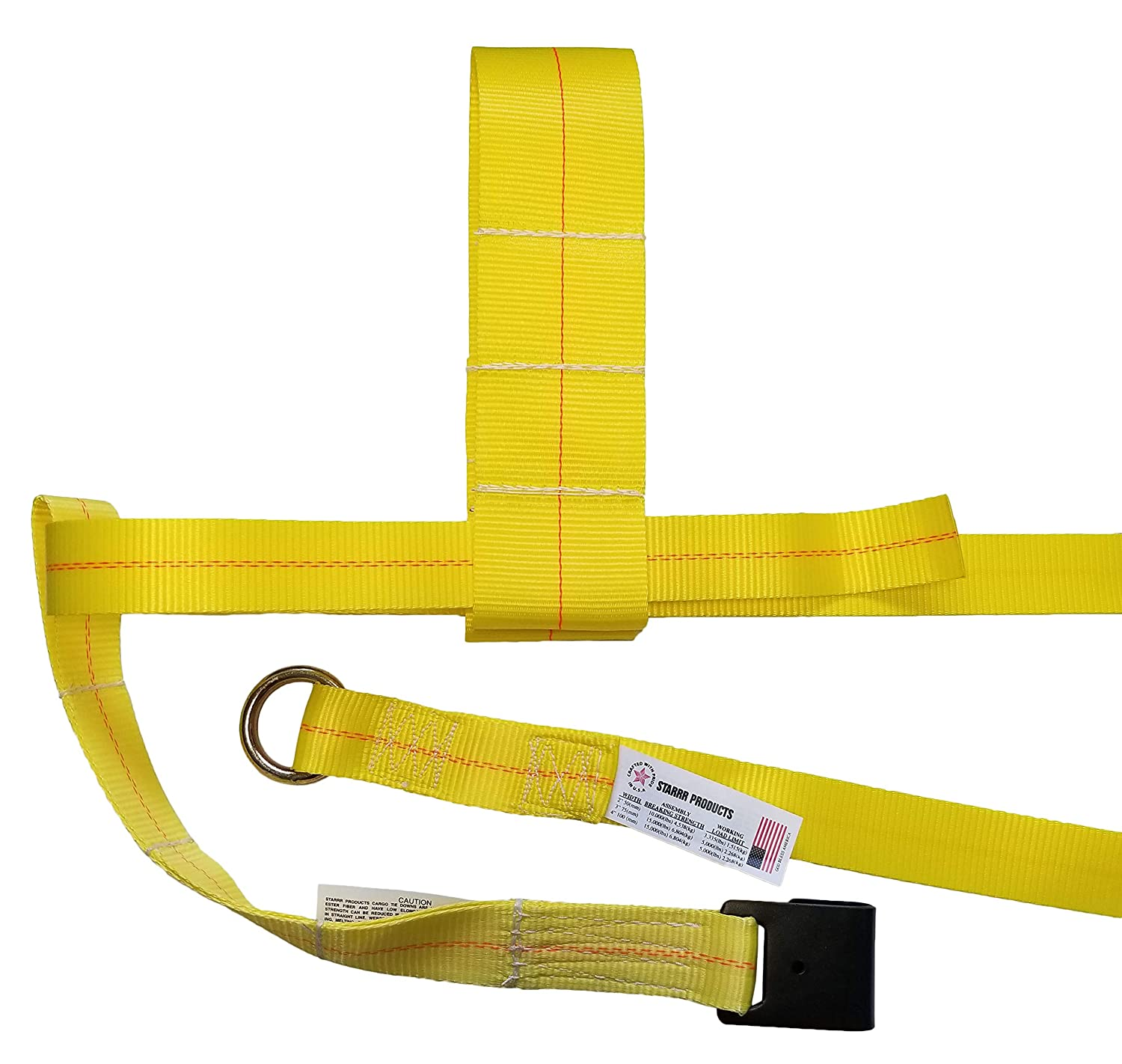 Starrr Products 13-35 Tow Dolly Adjustable Straps w//Flat Hooks Set of 2
