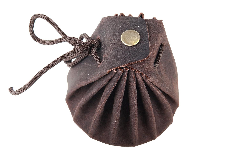 pochette /à bijoux Sac en cuir de buffle avec liens de serrage Style m/édi/éval Blague /à tabac