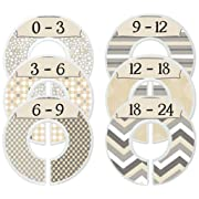 Mumsy Goose Baby Clothes Dividers Nursery Closet Dividers Baby Boy Monochrome