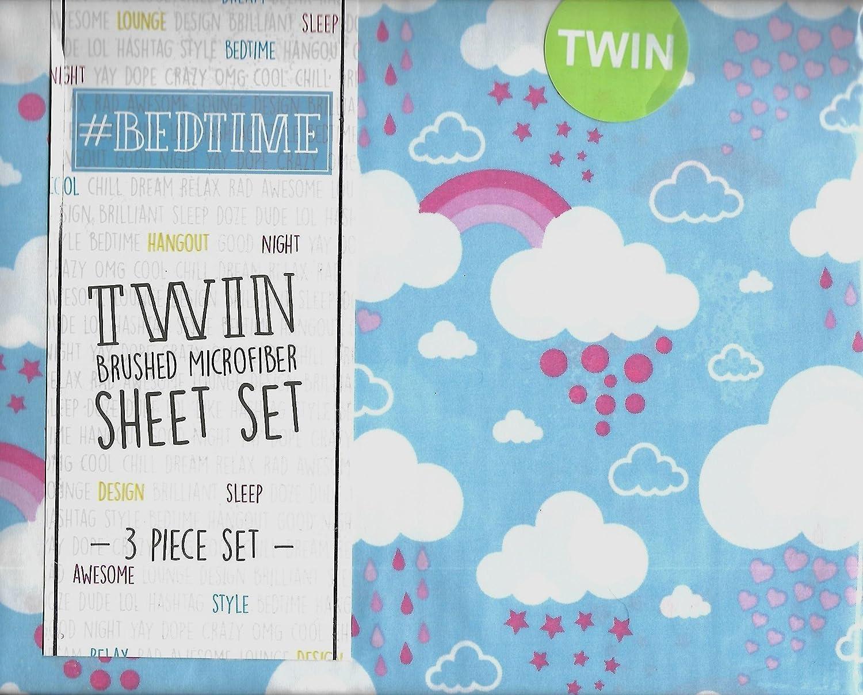 # Bedtime nubes/corazones/lluvia doble juego de sábanas: Amazon.es: Hogar