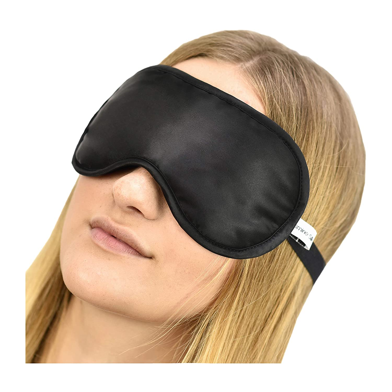 Jasmine Silk 100% Pure Silk Filled Eye Mask   Sleeping Mask Sleep Mask -  BLACK  Amazon.co.uk  Health   Personal Care f52a803a0