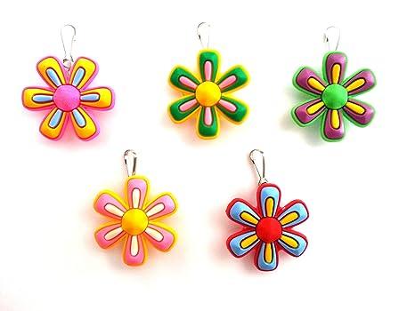 5 piezas Flores Grandes # 2 Zip Cremalleras Adornos para Cazadoras Bolsas Cremalleras