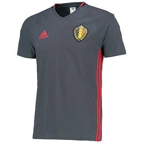 Adidas – Camiseta para Hombre rbfa Bélgica Entrenamiento Camiseta Gris Boonix/Scarle/Black Talla