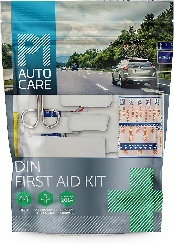 P1 Auto Care - Kit de primeros auxilios DIN