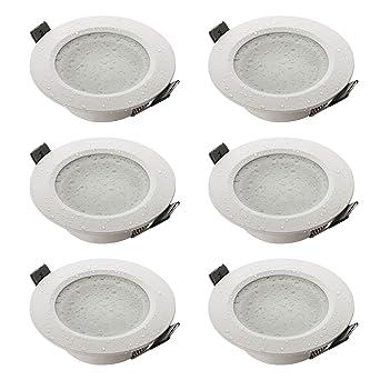 SEBSON® Einbaustrahler Badezimmer IP44, Badeinbaustrahler, Einbauleuchte  Aluminium Weiß, inkl. GU10 Fassung (LED, Halogen), 6er Pack