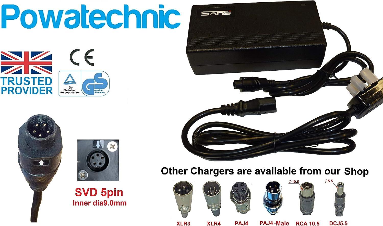 Powatechnic 24V 29.4V Lithium Li-Ion Battery Charger 5 pin plug for Joycube Phylion 24V 29.4V Joycube Phylion 5 pin Charger SSLC058V29XH JCLC058V29M AGLC058V29S