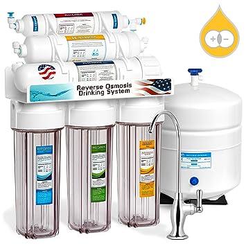 EXPRESS Wasser 6 Stage Deionization + Umkehrosmose Filtration System 100  GPD RO Membran Klar Gehäuse Di