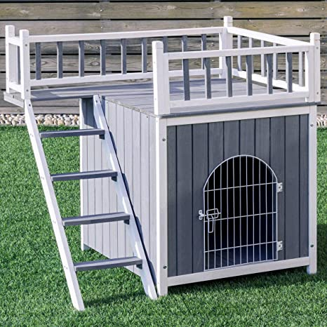 Tangkula Casa de Mascotas de Madera Exterior Perro Gato ...