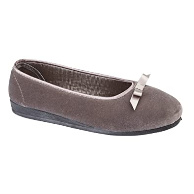 d70117d24b34 Sleepers Womens Ladies Jacqui Ballerina Bow Slippers  Amazon.co.uk  Shoes    Bags