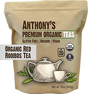 product image for Anthony's Organic Red Rooibos Loose Leaf Tea, 1 lb, Gluten Free, Non GMO, Non Irradiated, Keto Friendly