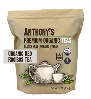 Anthony's 1 lb Organic Red Rooibos Loose Leaf Tea