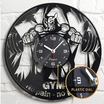 Amazon vinyra gym clock wall vinyl bodybuilding gifts women