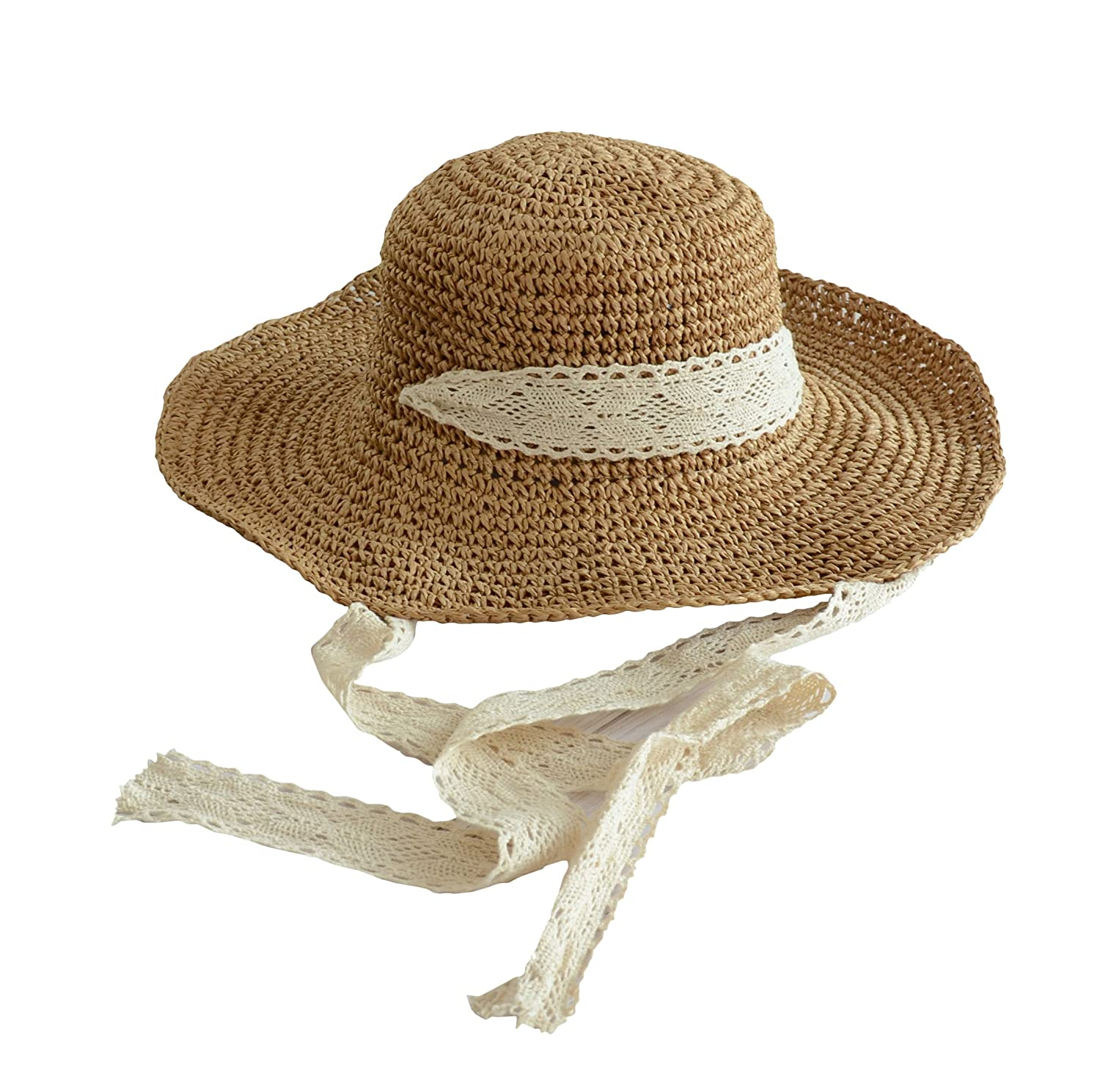 Hippie Hats,  70s Hats Urban CoCo Womens Wide Brim Caps Foldable Summer Beach Sun Straw Hats $11.68 AT vintagedancer.com