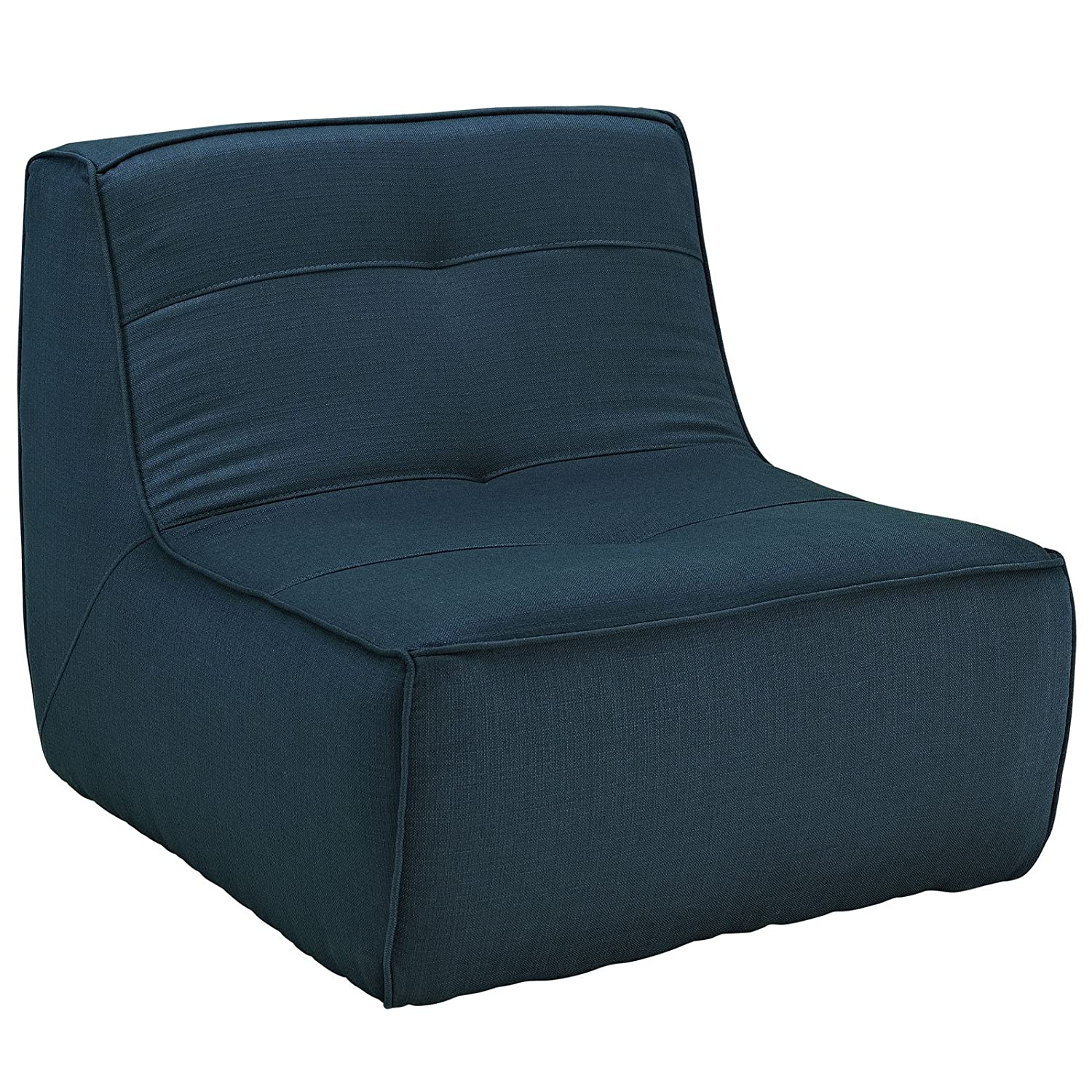 Amazon Modway Align Upholstered Armchair Azure Kitchen & Dining