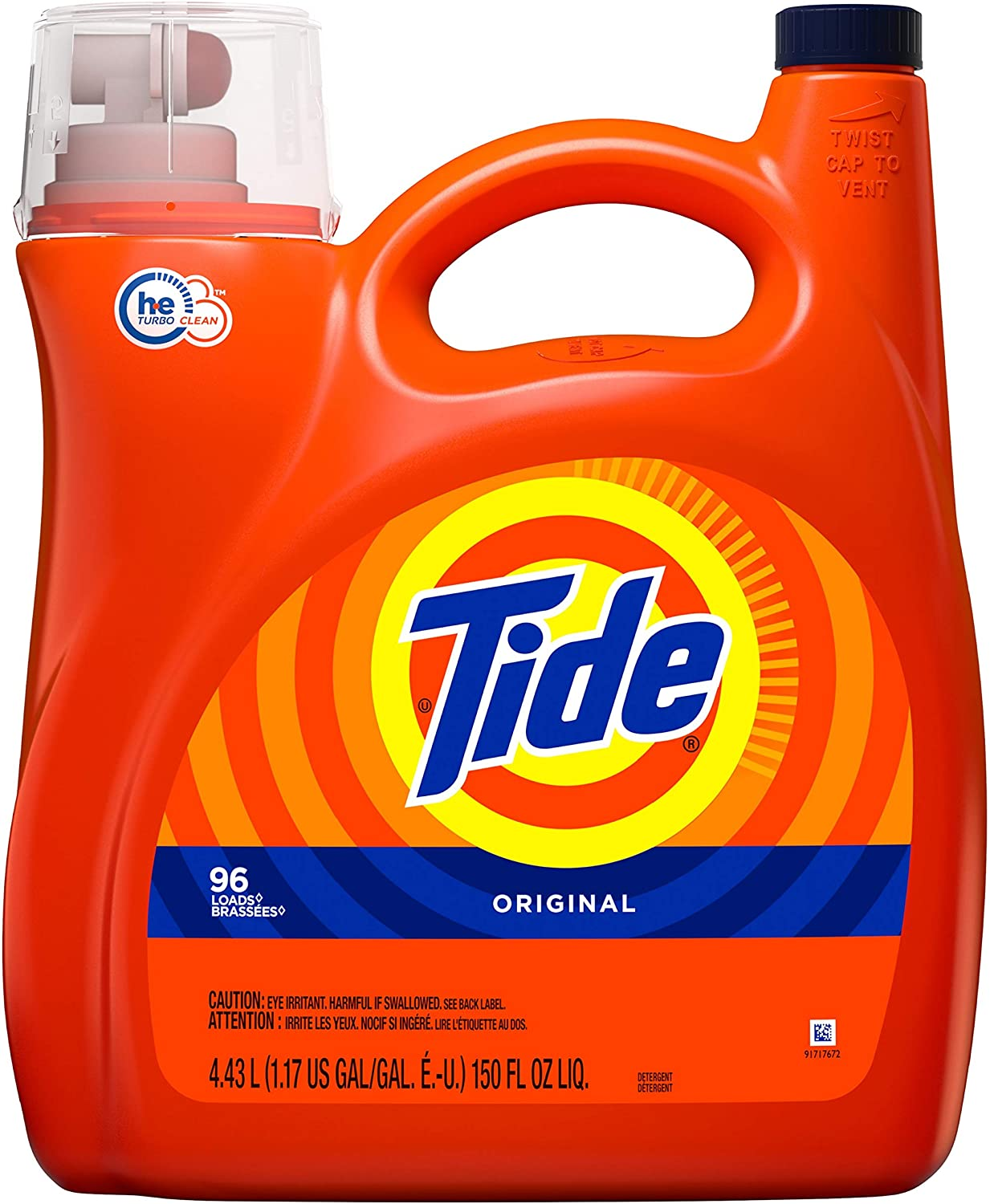 Tide Ultra Concentrated Liquid Laundry Detergent, Original, 96 Loads 150 fl oz