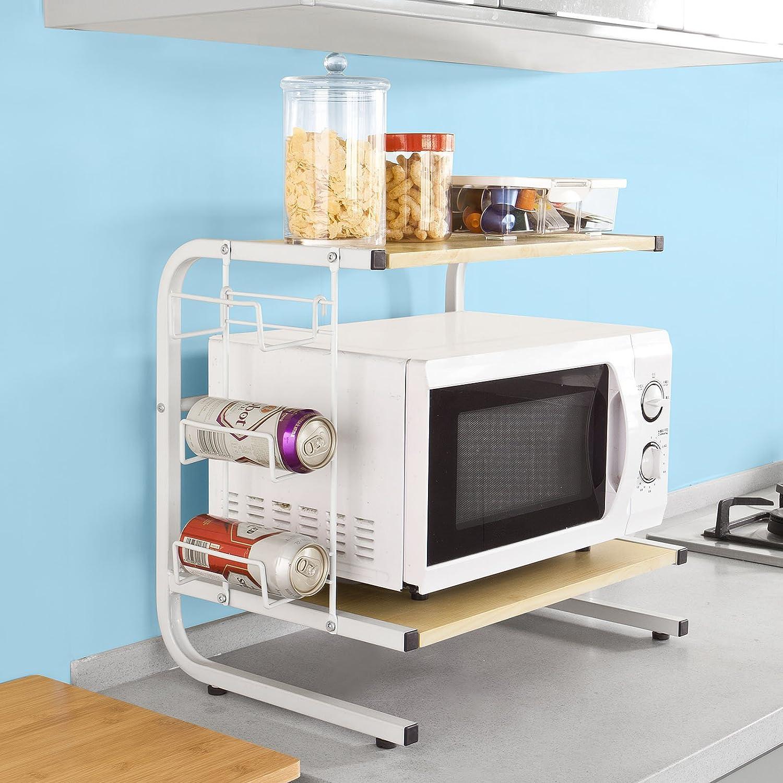 meuble tagre bois sobuy frgn meuble rangement cuisine de service en bois tagre micro ondes. Black Bedroom Furniture Sets. Home Design Ideas