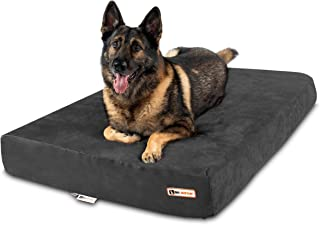 """product image for Big Barker 7"""" Pillow Top Orthopedic Dog Bed for Large and Extra Large Breed Dogs (Sleek Edition)"""