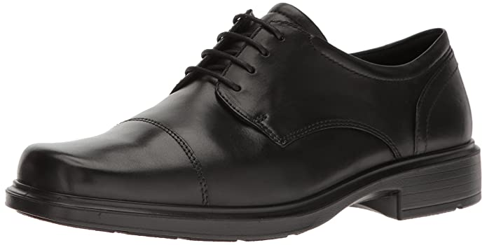 ECCO Men's Helsinki Cap Toe Oxford, Black, 44 EU/10-10.5 M US