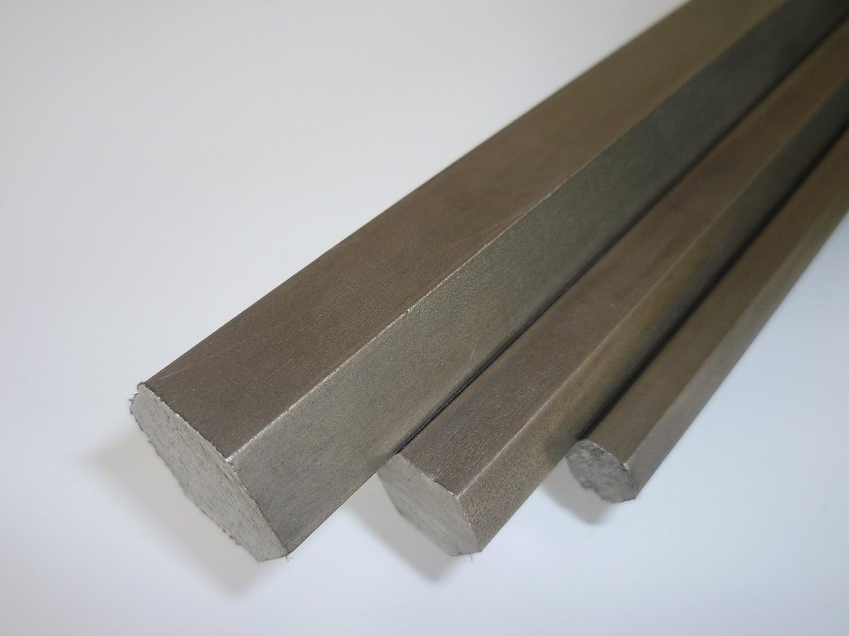blank gezogen h9-3 St/ück /à 995 mm B/&T Metall Automatenstahl Sechskant SW 8 mm 11SMnPB30+C 3 Meter Stange geteilt 1.0718