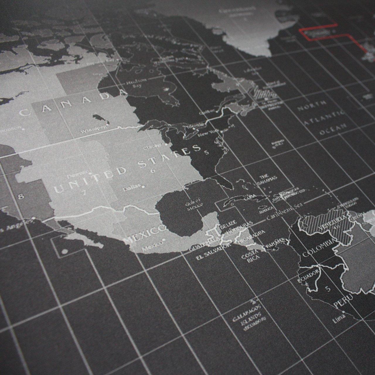 Benvo XXL Grande Ordenador Alfombrilla Raton para Oficina y Gaming (900x400mm, Fondo Antideslizante de Goma, Borde Cosido, Mapa Mundi) para Gamers, ...