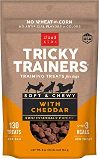 product image for Cloud Star Tricky Trainers Chewy Dog Treats – Whole Grain Soft Training Treats, 5oz Cheddar
