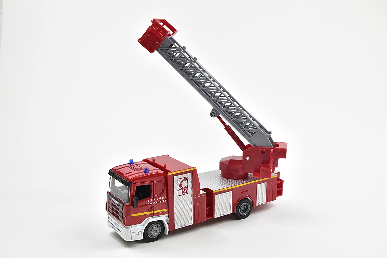 Forze dell Ordine Scania R124//400 Vigili del Fuoco Ladder Truck Scala 1:43 NEWRAY 15573