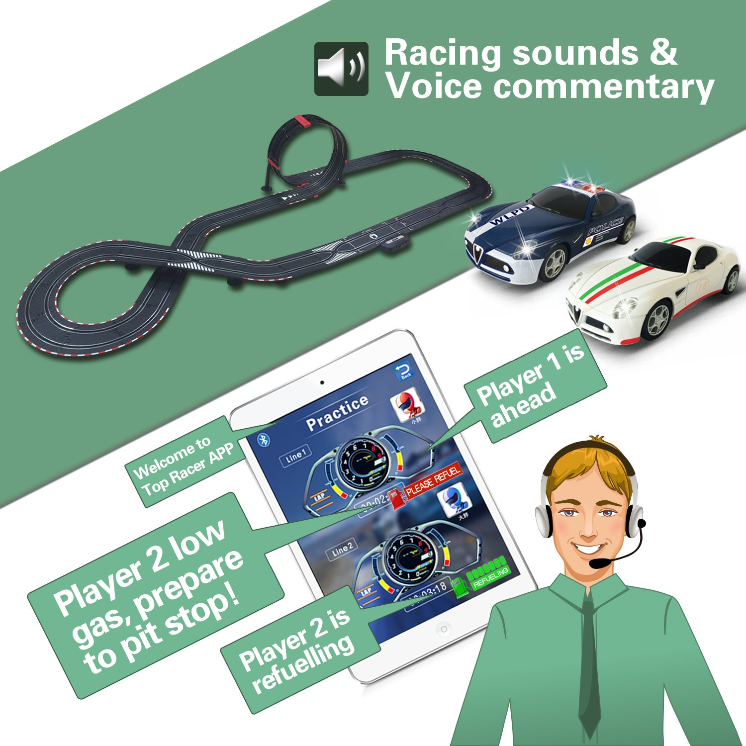 AGM slot car set with racing assistant APP No.ASR-01 1:43 scale by AGM (Image #4)