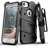 Zizo Bolt 系列兼容 iPhone 8 Plus 手机壳*级跌落测试钢化玻璃屏幕保护膜 iPhone 7 Plus 手机壳 Gun Metal Gray/Black