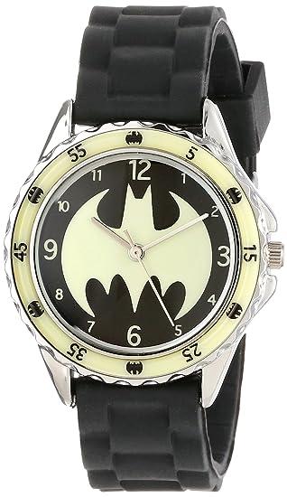 58364641f889 Batman BAT9004 Reloj analógico de cuarzo negro para niños  Amazon ...