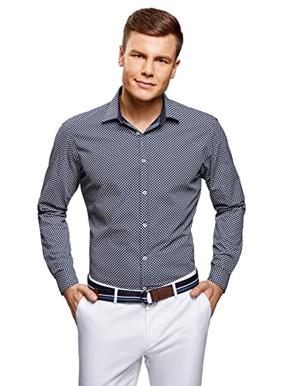 Chemises oodji Ultra Homme Chemise Imprimée Coupe Ajustée
