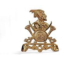 Kalyani Metal Handicrafts Brass Shivaji Sculptures Showpiece