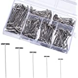 Outus 450 Pieces Steel T-Pins Nickel Plated 1 Inch, 1-1/4 Inch, 1-1/2 Inch, 1-3/4 Inch, 2 Inch