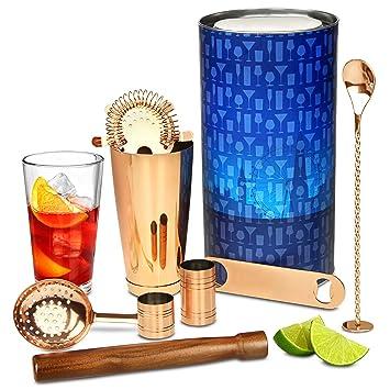 Kupfer-Kit von bar @ drinkstuff – PREMIUM Cocktail Geschenk Set mit ...