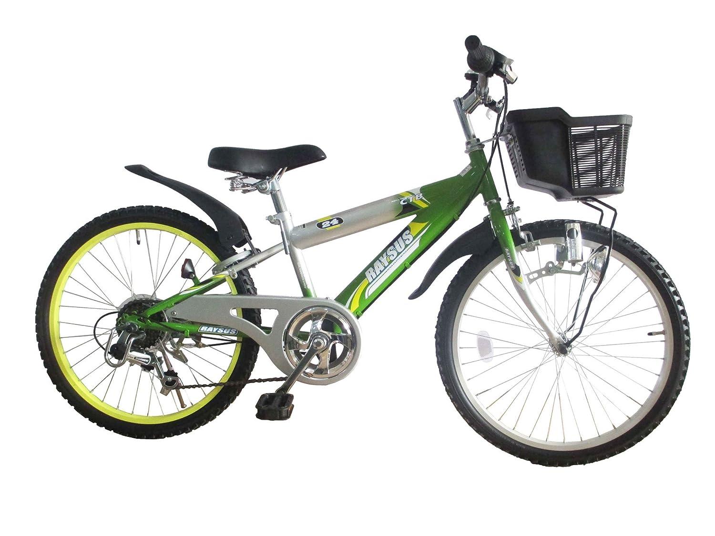 RAYSUSレイサス キッズバイク RY-246KD-H 24インチ シマノ6段ギア ダイナモライト  グリーン B01K4I3FOA
