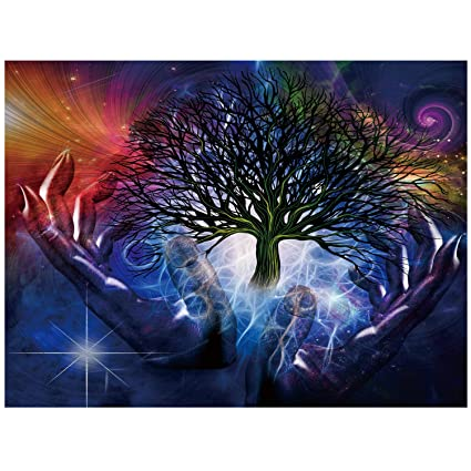 Amazon.com  TDYNASTY DESIGN Tree of Life Wall Hanging Tapestry ... 54fd2c630
