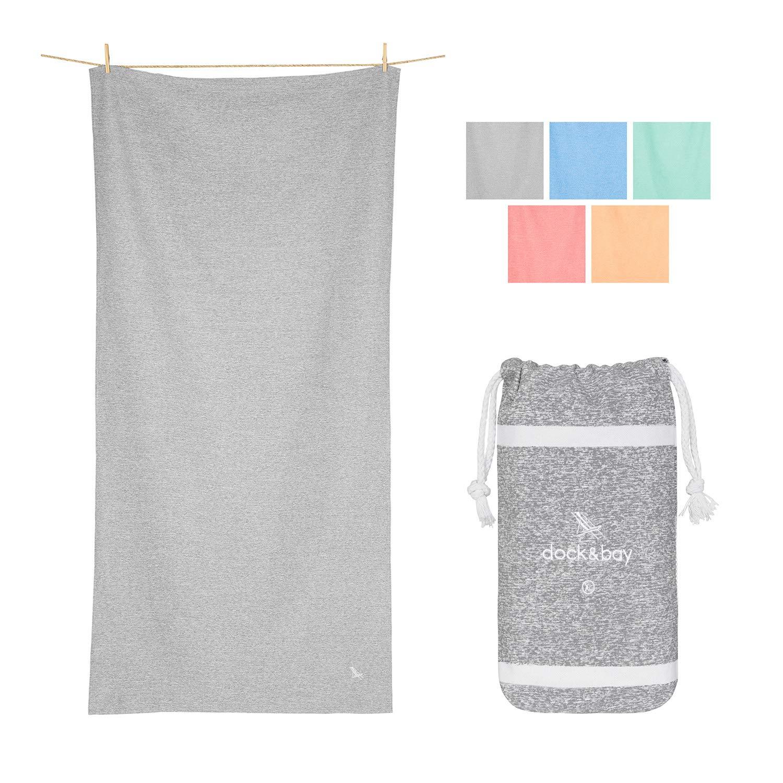 Dock & Bay Large Yoga Towels for Gym - Mountain Grey, 78 x 35 - Yoga, Pilates & Beach - Huge Towel Oversized Yoga Towel