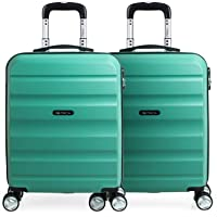 ITACA - Maletas de Viaje Rígidas 4 Ruedas Trolley ABS Lisas. Cómodas y Ligeras. 4 Ruedas Candado. Pequeña Cabina 55x40x20. Mediana y Grande XL. Vuelo en Pareja