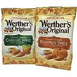 Werthers Original Harvest Caramel Pack: Caramel Apple & Pumpkin Spice Soft Caramels