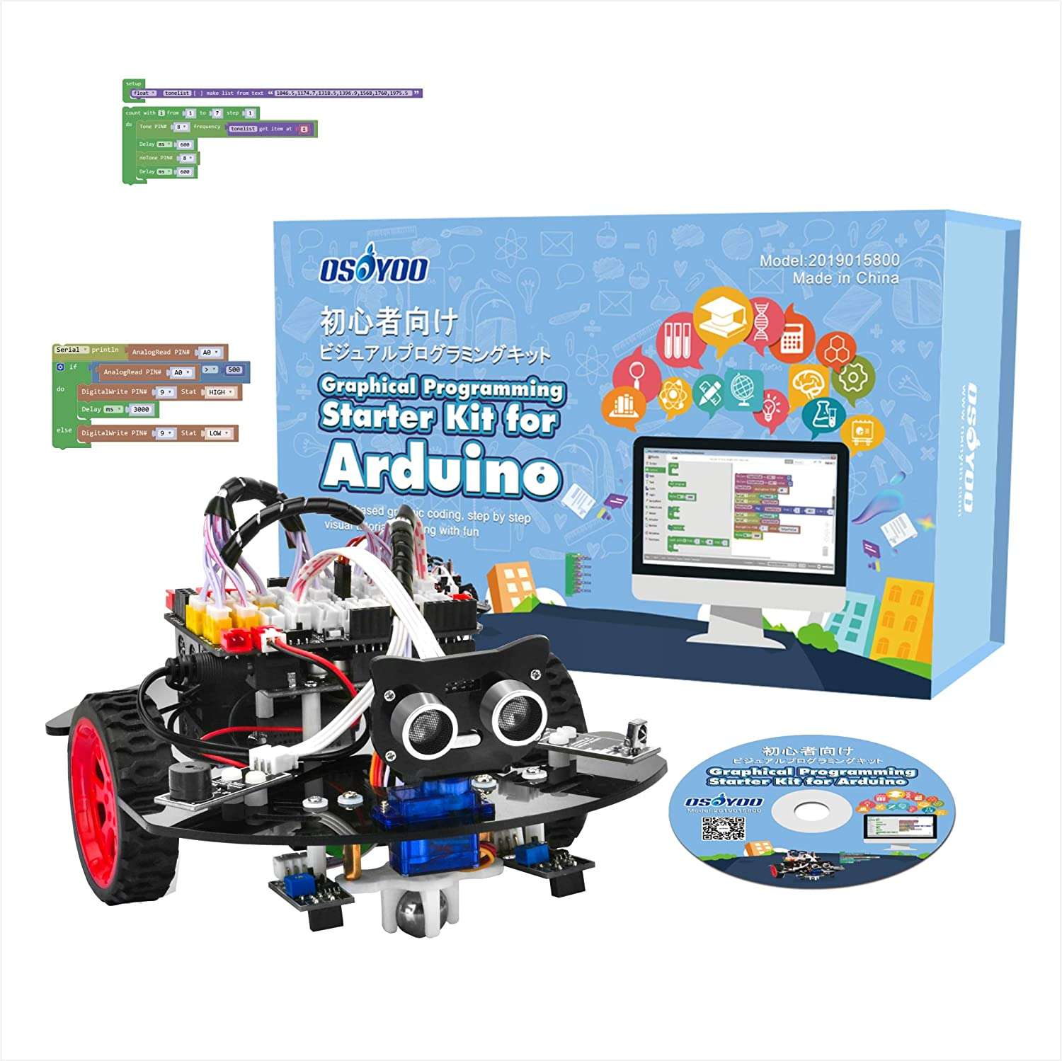 Ultrasonic Obstacle Web CSI Camera OSOYOO Robotic Car for Raspberry Pi 4 3B+ 3B Teens and Adults STEM Educational DIY Smart Kit for Science Fair WiFi IOT Control RPi Board Not Included