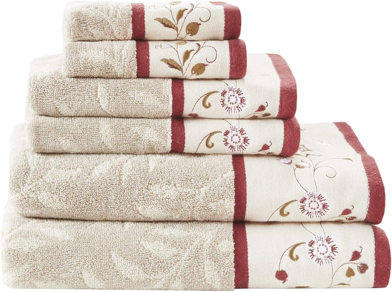 Madison Park Serene Towel Set, See Below, Red