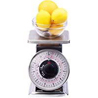 Tada Precise Portions Analog Food Scale - Stainless Steel, Removable Bowl, Tare Function, Retro Style, Kitchen Friendly…