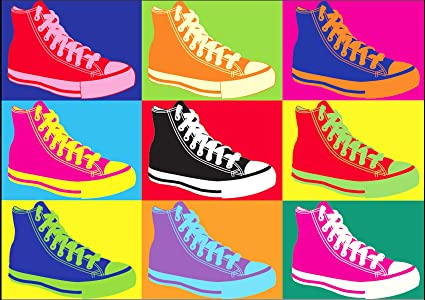 f11e80ec6fc013 CONVERSE ANY WARHOL POP ART ALL STAR A1 CANVAS ART PRINT POSTER 90cm X  60cm  Amazon.co.uk  Kitchen   Home