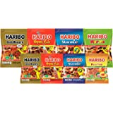 Gomitas haribo mix 150 y 80g paquete de 8 pzs: osos goldbear, happy-cola, starmix, warms y peaches. Caramelo de gomita…
